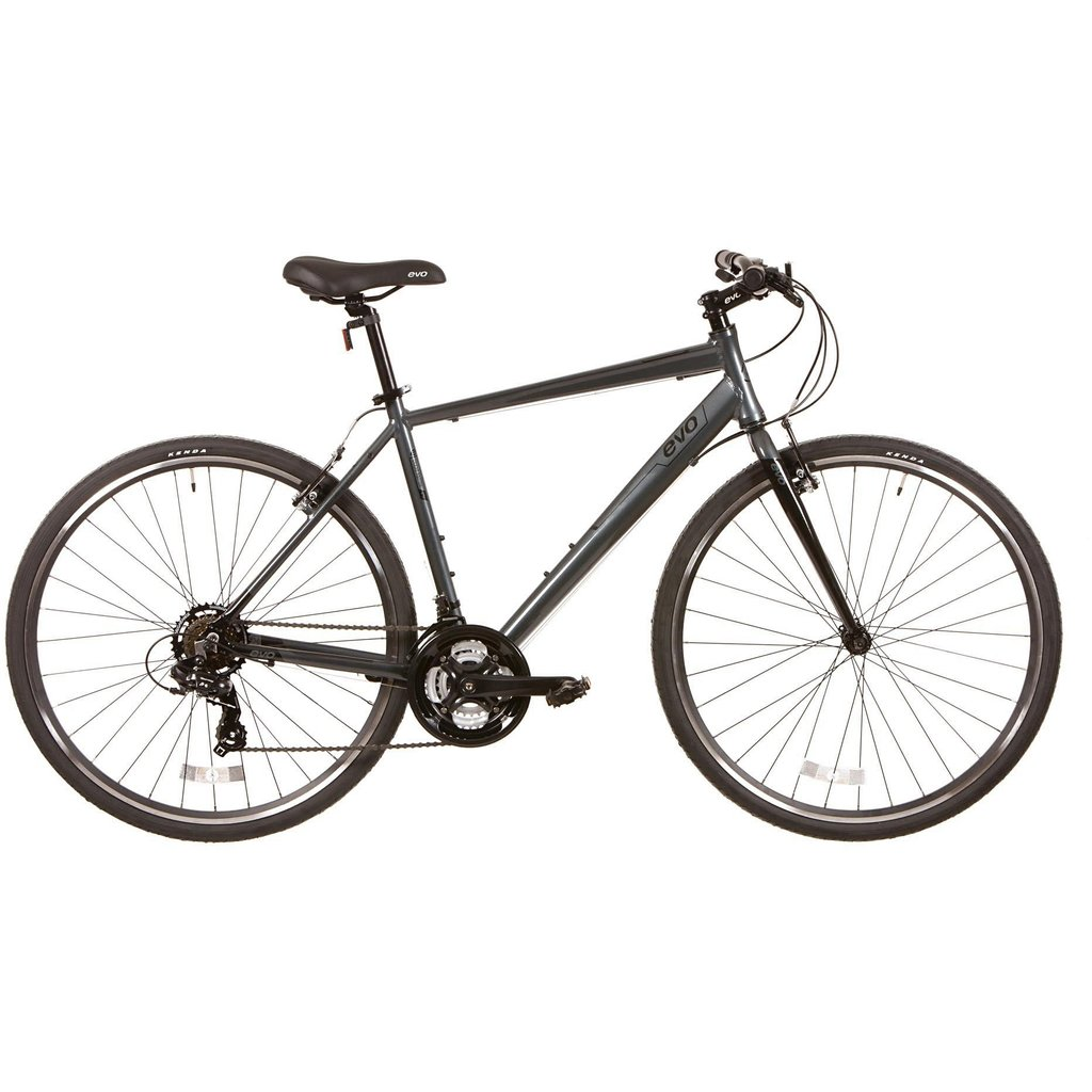 Evo EVO, Grand Rapid 3, Commuter Bicycle, 700C, Twilight Grey, 16