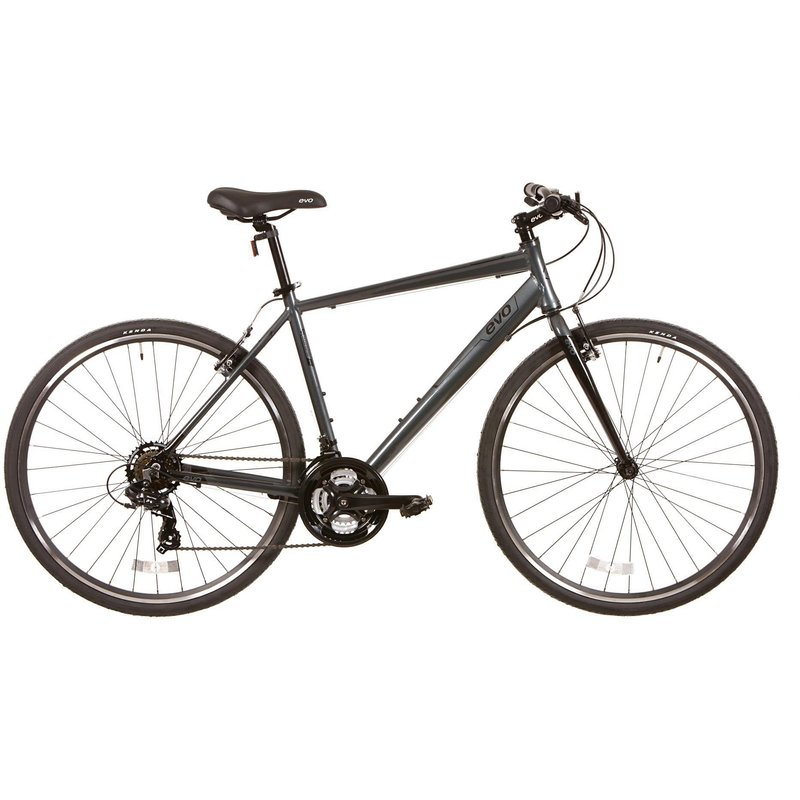 Evo EVO, Grand Rapid 3, Commuter Bicycle, 700C, Twilight Grey, 18