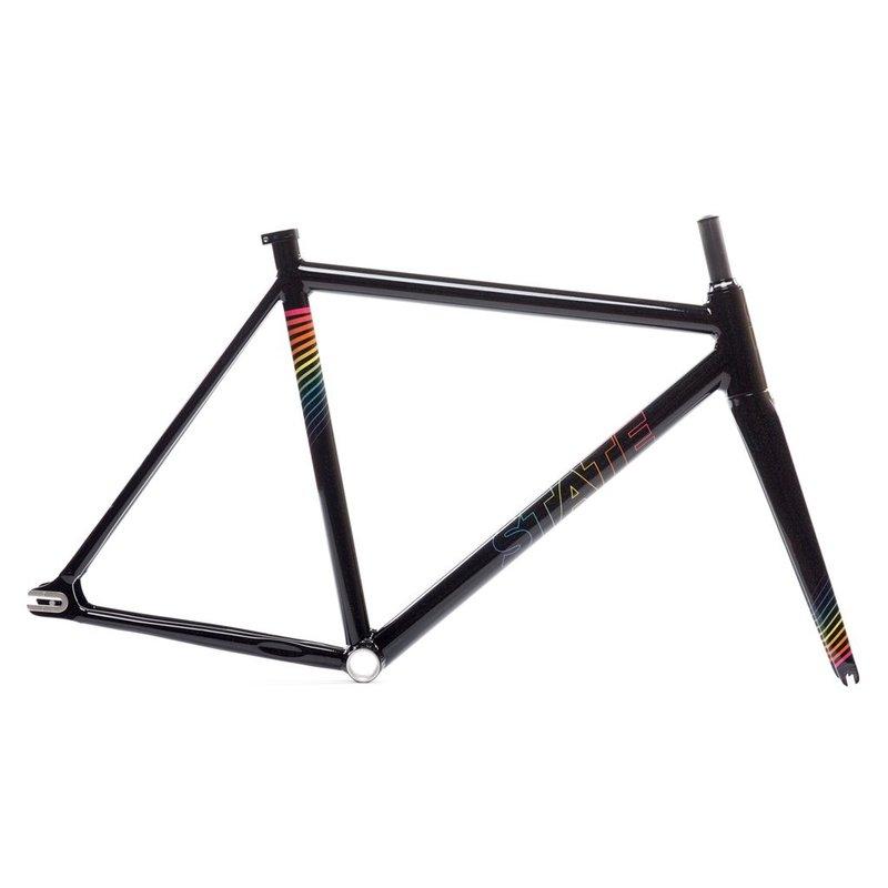 State Bicycle State Bicycle / 7005 Undefeated / ensemble cadre et fourche / Noir Arc-En-Ciel