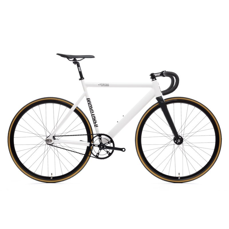 State Bicycle State Bicycle / 6061 Black Label / velo complet / guidon de route / blanc