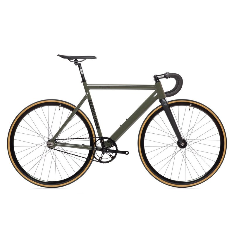 State Bicycle State bicycle / Black label / fixie complet / guidon de route  / vert armee