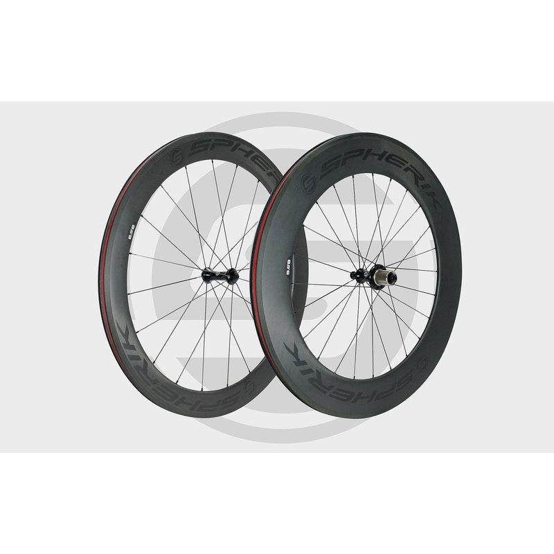 Spherik / Carbon wheel set 6S8 /  profile 60mm front and 85mm back / compatible shimano sram 11 speed