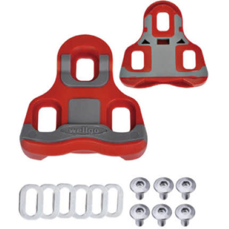 Pedal Cleats - Wellgo RC-7B Road - 6 degree - Red