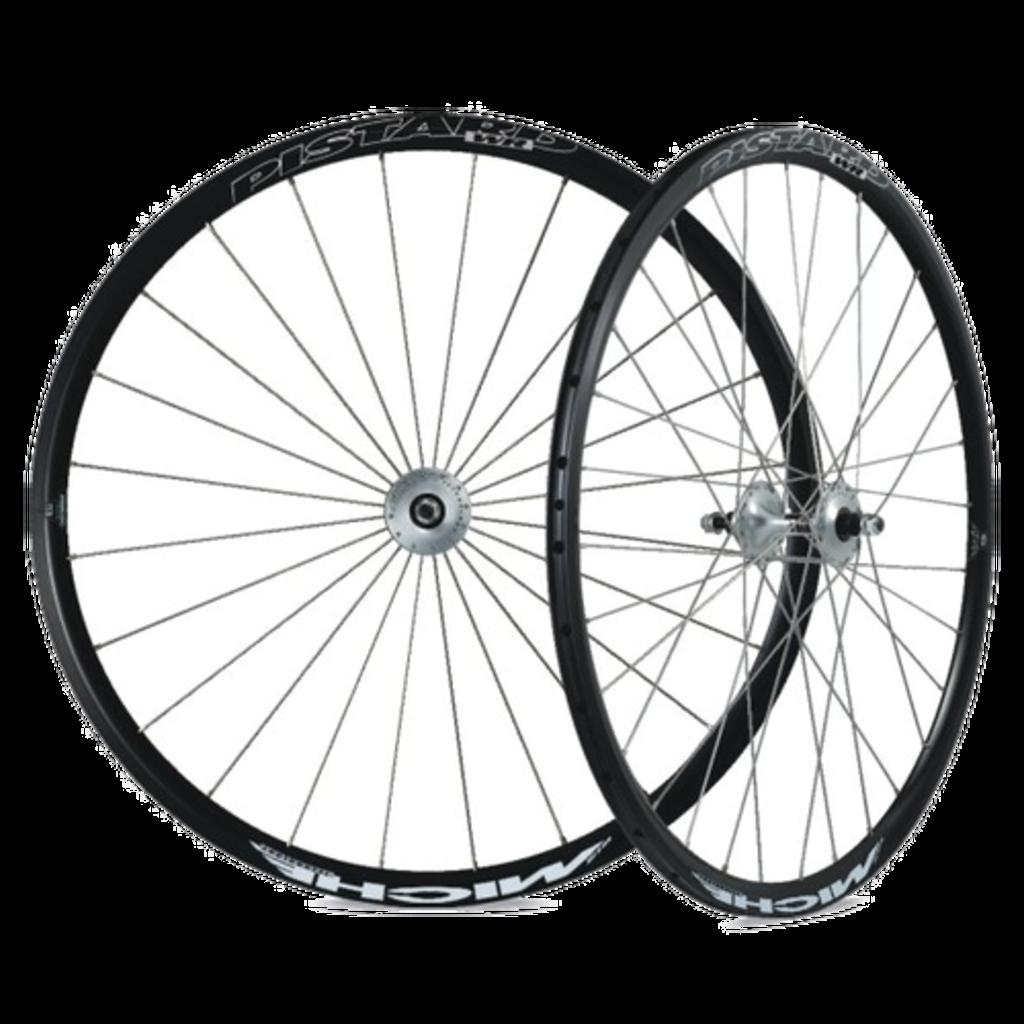 Wheel 700 rear Fixed - Carbon - Miche Primato Hub silver - 32 Spokes - Black