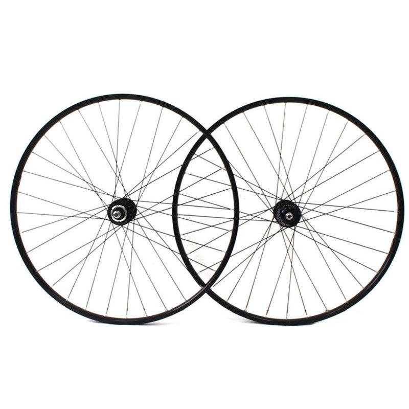 H PLUS SON Hydra - fixed gear ensemble de roue - Moyeux  DuraAce -  - 28/28T - Noir/Argent