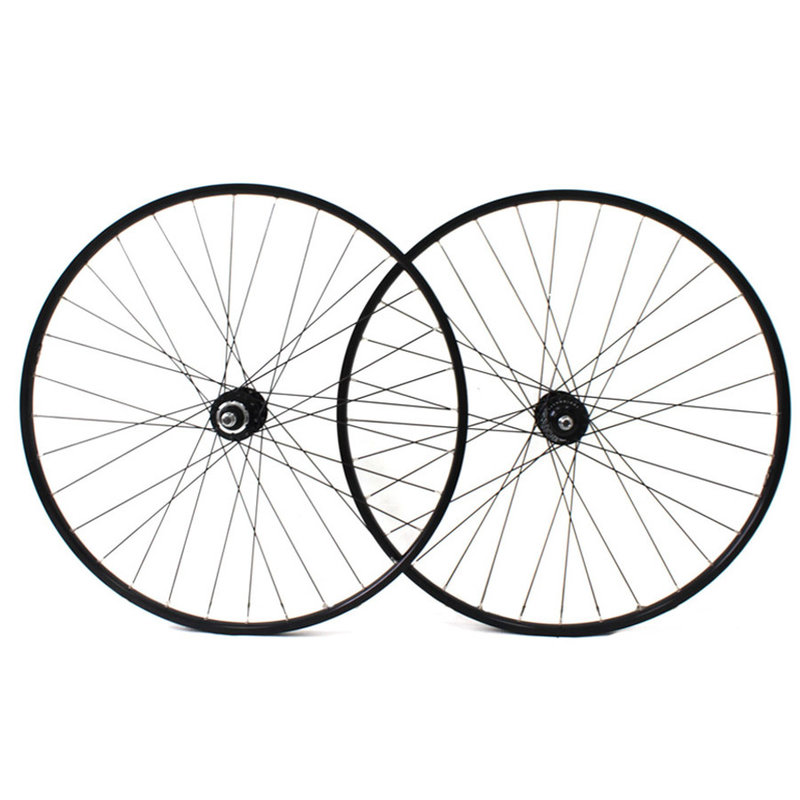 H PLUS SON Hydra - fixed gear wheels set - Dura-Ace HB-7600 Hubs - 28/28 Spokes - Black/Silver