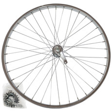 27 x 1-1/4 Arrière Coaster - Damco - Shimano Coaster - 36 Rayons - Argent