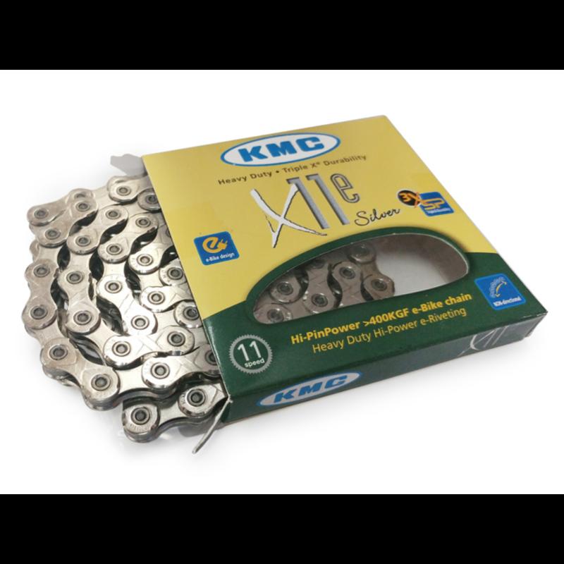 Kmc, Chaine 11 vitesses, X11e, 126 liens, Argent