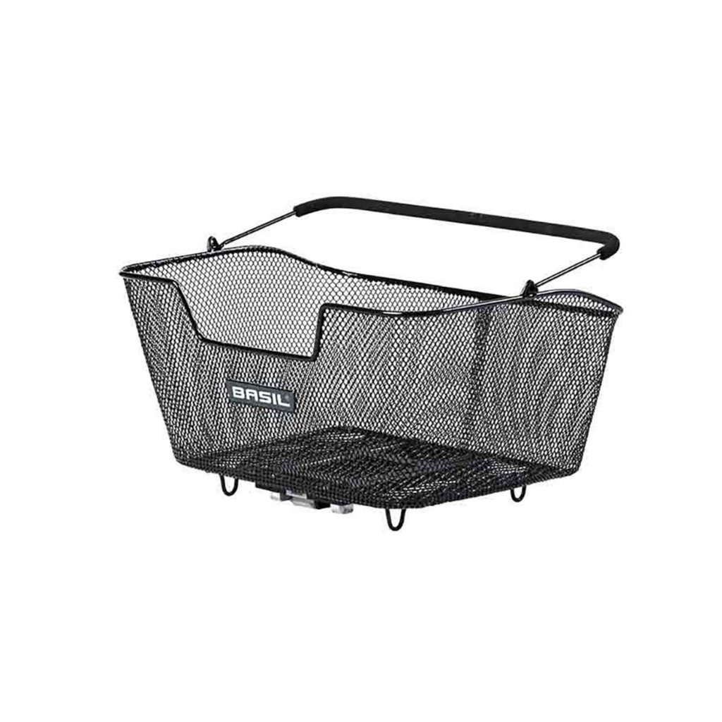 Basil, Base, Rear basket with handle. Black