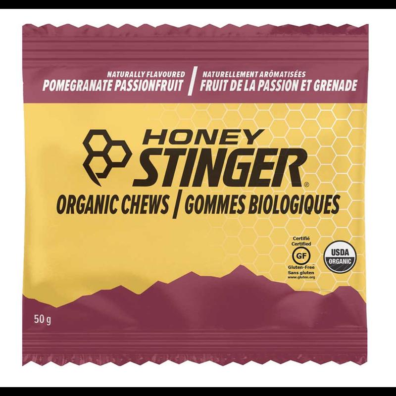 Honey Stinger, Organic Energy Chews, Box of 12 x 50g, Pomegranate