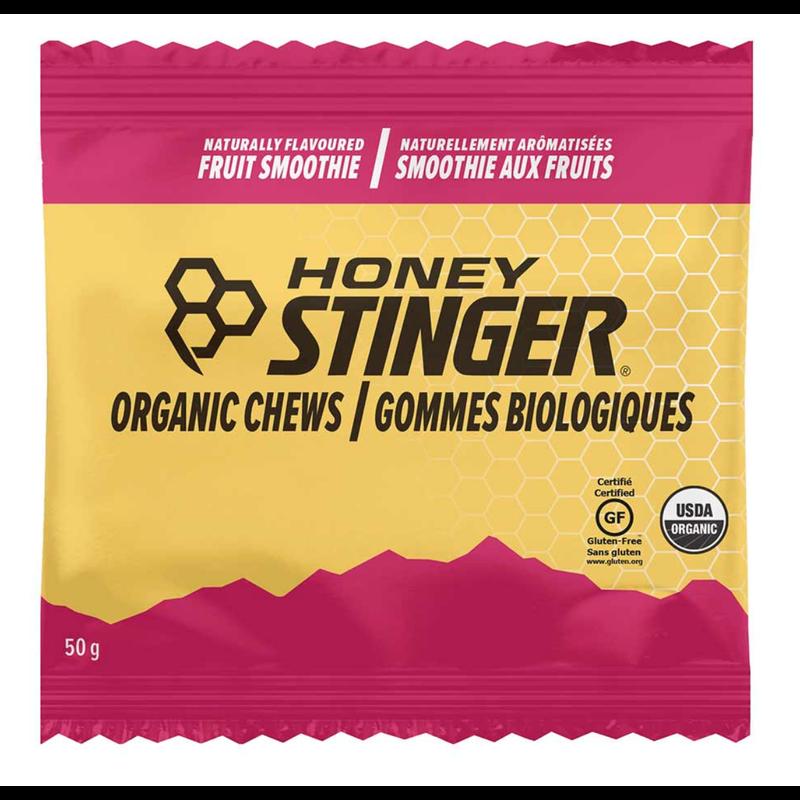 Honey Stinger, Organic, Jujubes énergétiques, Boîte de 12 x 50g, Frappé au fruits*