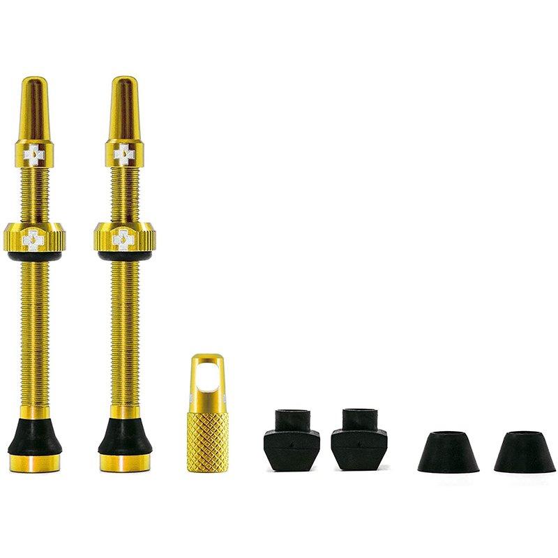 Muc-Off Muc-Off, V2, Tubeless Valve, Presta, 60mm, Gold, Pair