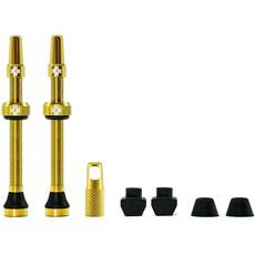 Muc-Off Muc-Off, V2, Tubeless Valve, Presta, 44mm, Gold, Pair