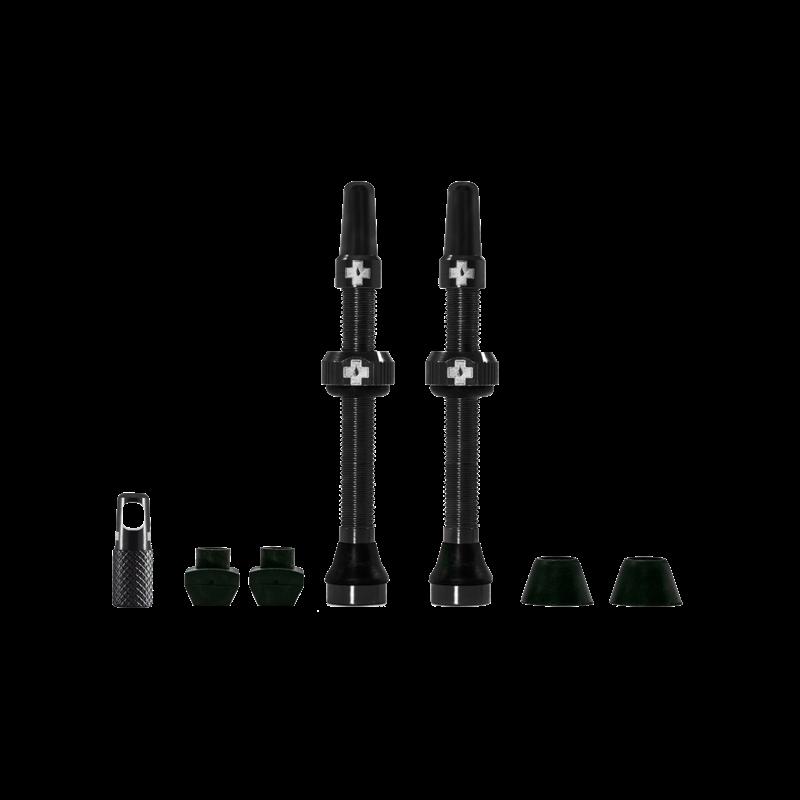 Muc-Off Muc-Off, V2, Tubeless Valve, Presta, 60mm, Black, Pair