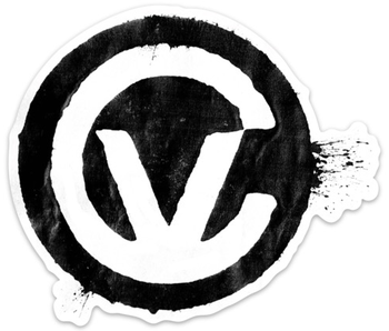 Control Voltage Stamp Sticker, Black on White, XL