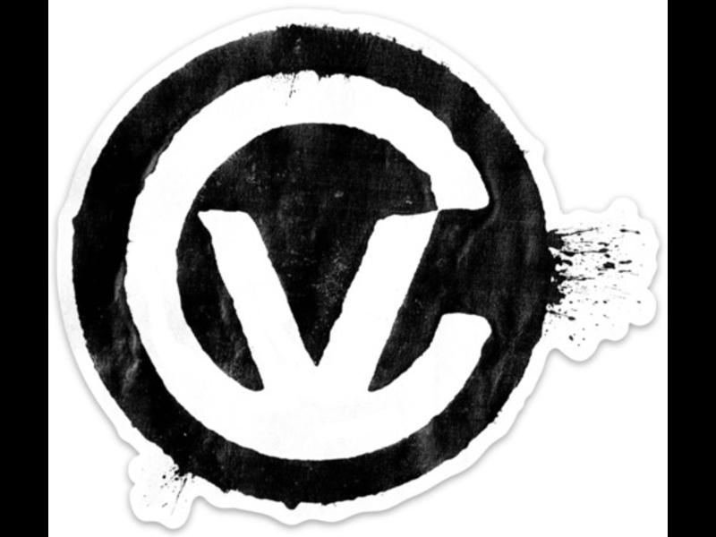 Control Voltage Stamp Sticker, Black on White, XL