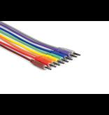 """Hosa Patch Cables, 3.5mm, Multicolor, 12"""", 8pk"""