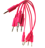 "Make Noise 6"" Hot Pink 3.5mm Patch Cables 5pk"