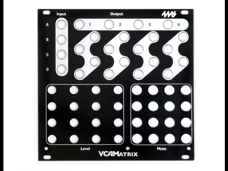 4ms VCAM Faceplate - Black