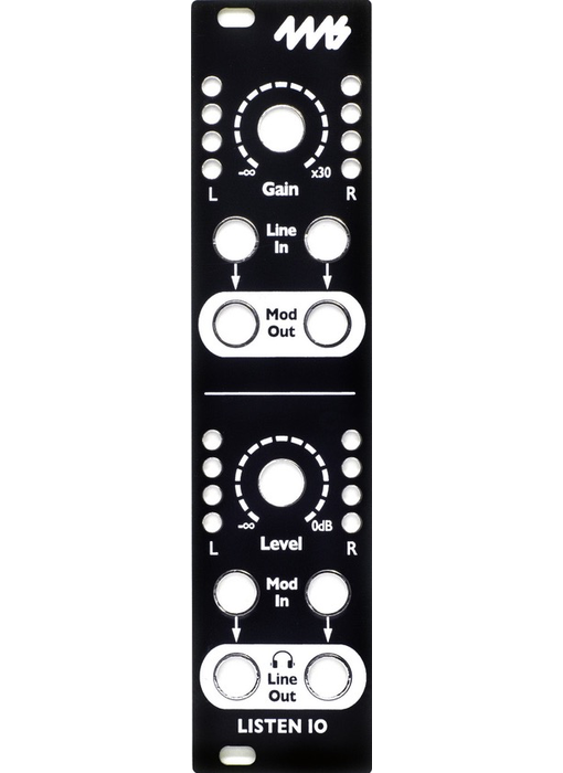 4ms Listen IN/OUT Faceplate - Black