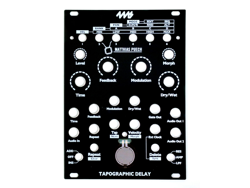 4ms Tapographic Delay (TD) Faceplate - Black