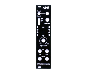 4ms WAV Recorder (WR) Faceplate - Black