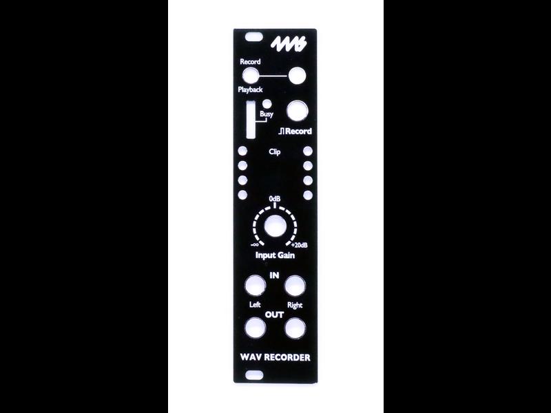 4ms WAV Recorder (WR) Faceplate - Black
