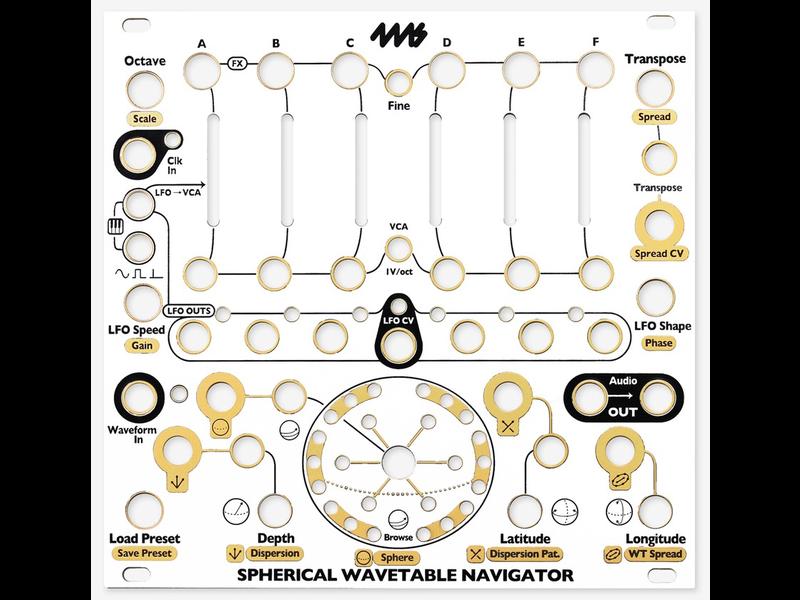 4ms Spherical Wavetable Navigator (SWN) Faceplate - White