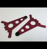 Intellijel 7U Joiner Plates (pair), Red
