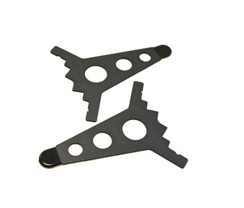 Intellijel 7U Joiner Plates (pair), Stealth/Black