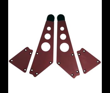 Intellijel 4U Joiner Plates (pair), Red
