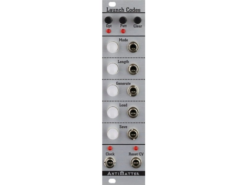 Antimatter Audio Launch Codes, DEMO UNIT
