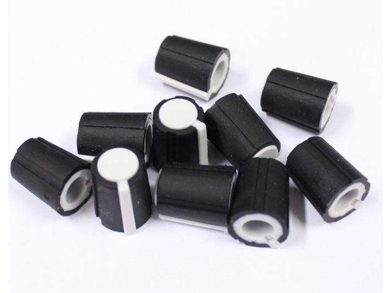 Make Noise White Flatted Knobs, Medium, 10pk