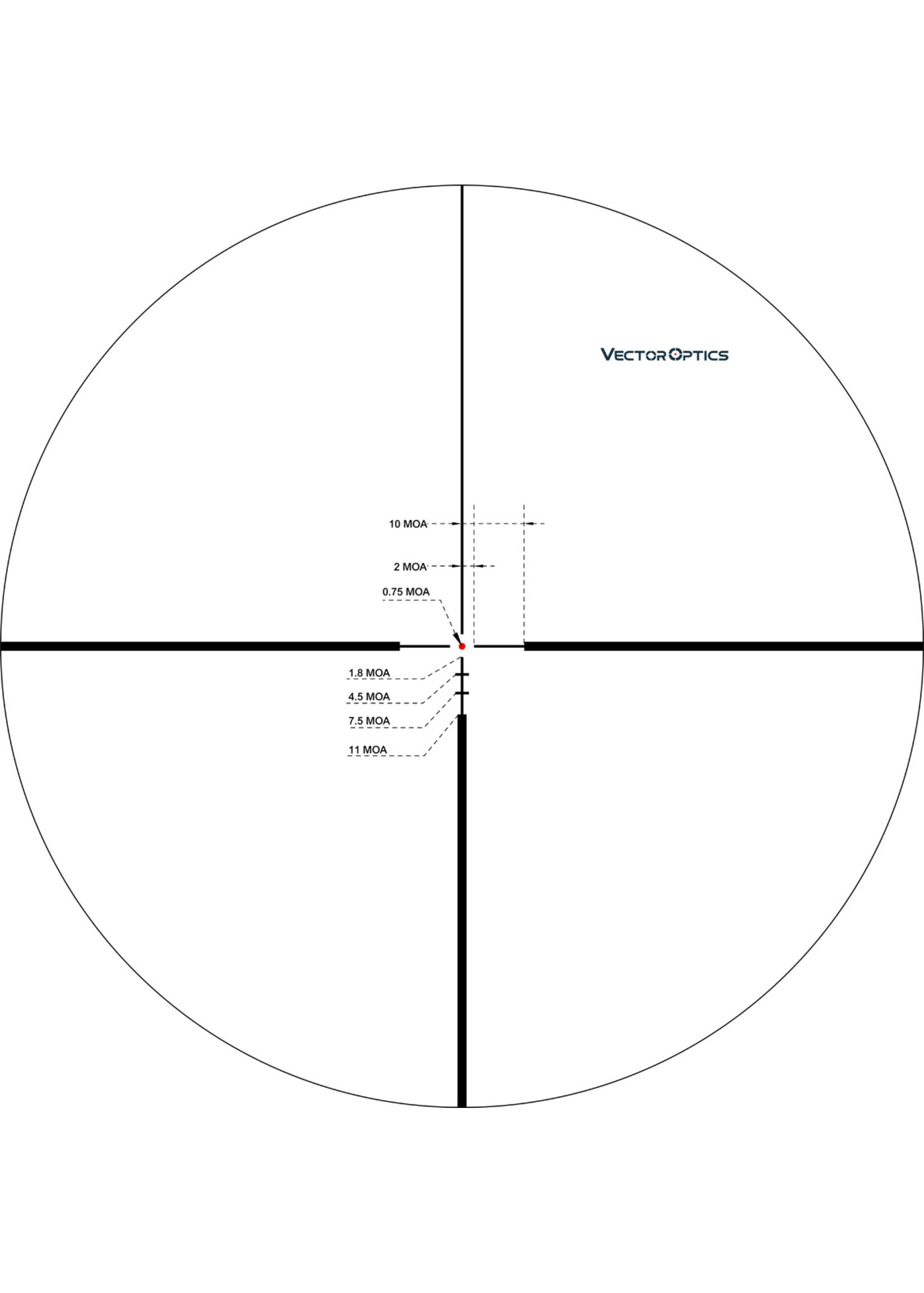 Vector Optics Vector Optics Continental High Performance Sporter Series Riflescope SFP MOA