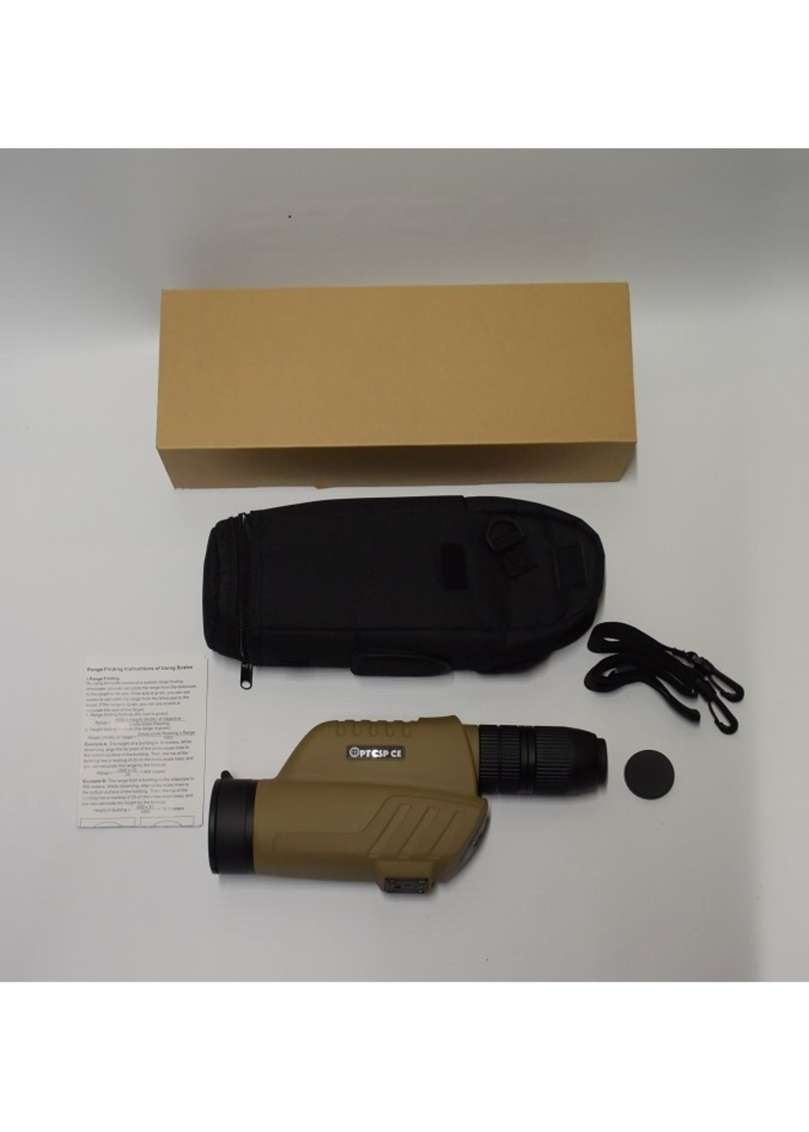 OpticSpice OpticSpice STS 12-36x60 Special Tactical Spotting Scope with First Focal Pane  Reticle