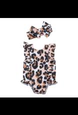 Mud Pie Mud Pie Girls Leopard Swimsuit