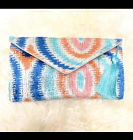 Wolf & Rose Jewelry Bag Pastel Mandala Envelope Silk