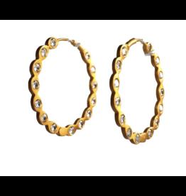 Wolf & Rose Jewelry Earrings Hoop Cz