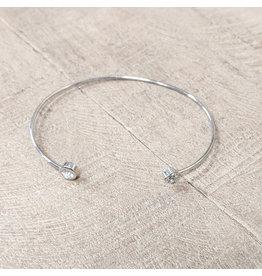 Bo B.K.  Designs Bracelet Silver CZ Flower