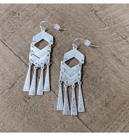 Bo B.K.  Designs Earring Mod Drop Silver