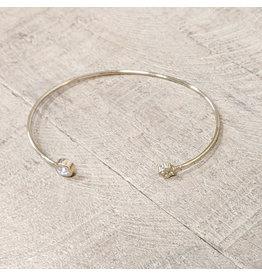 Bo B.K.  Designs Bracelet Gold CZ Flower
