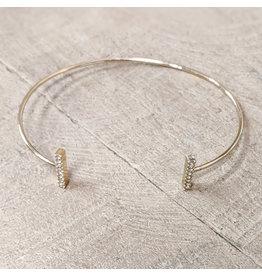 Bo B.K.  Designs Bracelet Gold CZ Bar