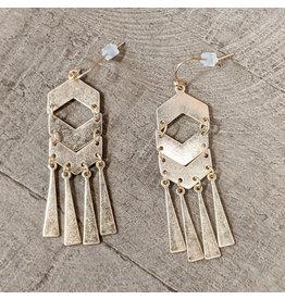 Bo B.K.  Designs Earring Mod Drop Gold