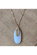 Bo B.K.  Designs Necklace Stone Pendant Moonstone