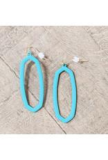 Bo B.K.  Designs Earring Textured Drop Green