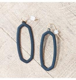 Bo B.K.  Designs Earring Textured Drop Black