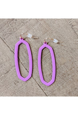 Bo B.K.  Designs Earring Textured Drop Purple