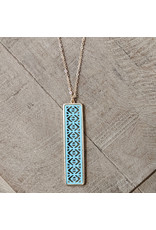 Bo B.K.  Designs Necklace Color Bar Turquoise