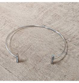 Bo B.K.  Designs Bracelet Silver CZ Bar