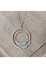 Bo B.K.  Designs Necklace Long Amazonite Hoop